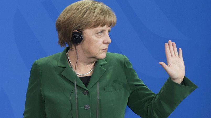 La chancelière allemande Angela Merkel, à Berlin, le 17 avril.