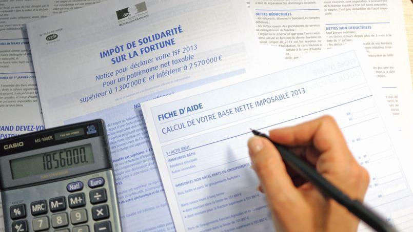 Les contribuables qui déclarent leur patrimoine avec leurs revenus n'ont pas à régler immédiatement l'ISF.