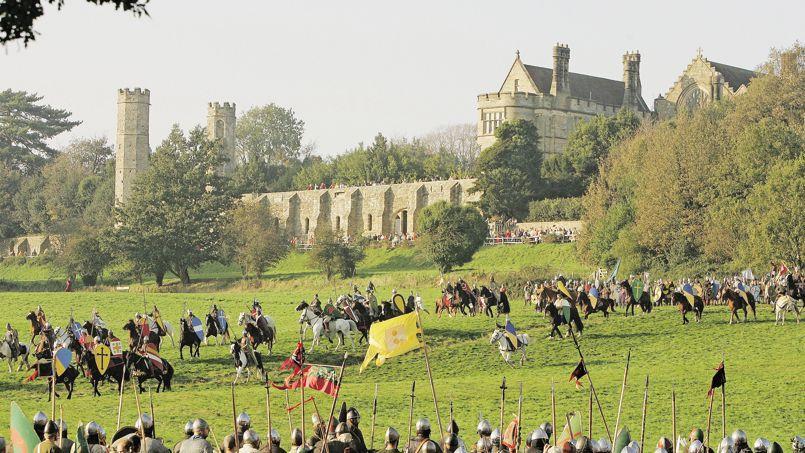 Reconstitution de la bataille de Hastings, le 15 octobre 2006 ...
