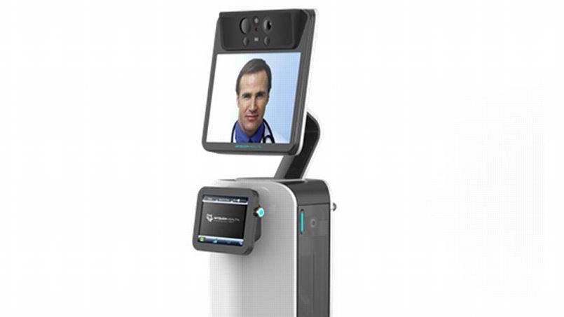 Le RP-Vita, conçu par la firme américaine iRobot, est un robot capable de de se déplacer pour aller au-devant des patients et collecter des données sur leur santé.