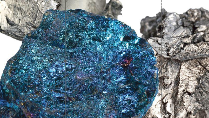 Des fragments de Chalkopyrit, Dysprosium et Scandium.