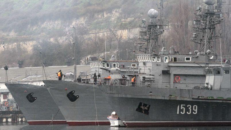 Base de la marine russe dans le port de Sébastopol.
