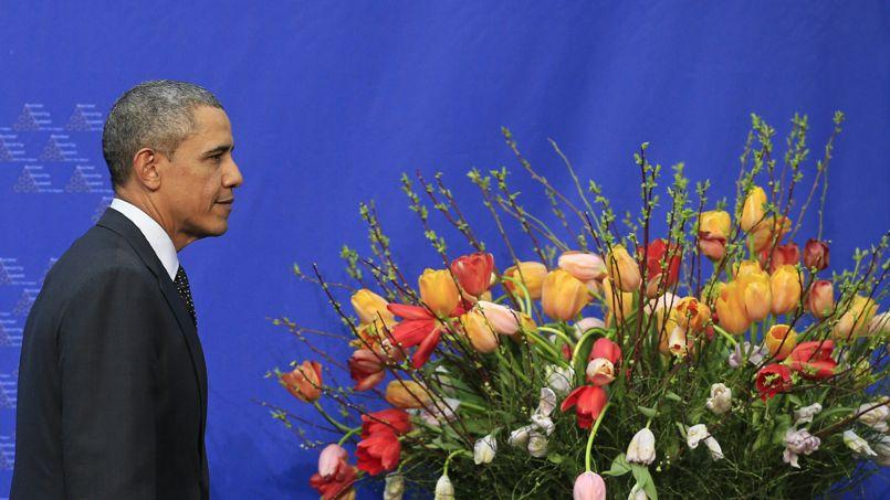 Barack Obama, le président des États-Unis, mardi 25 mars à La Haye, aux Pays-Bas.