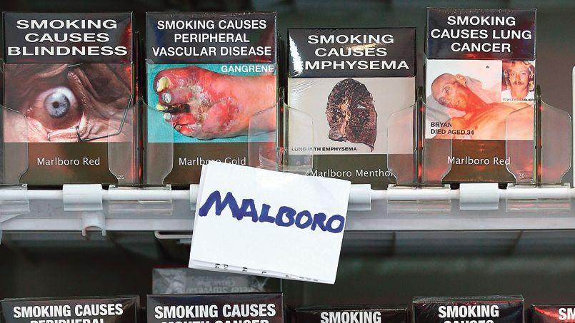 Des paquets de cigarettes vendus en Australie.