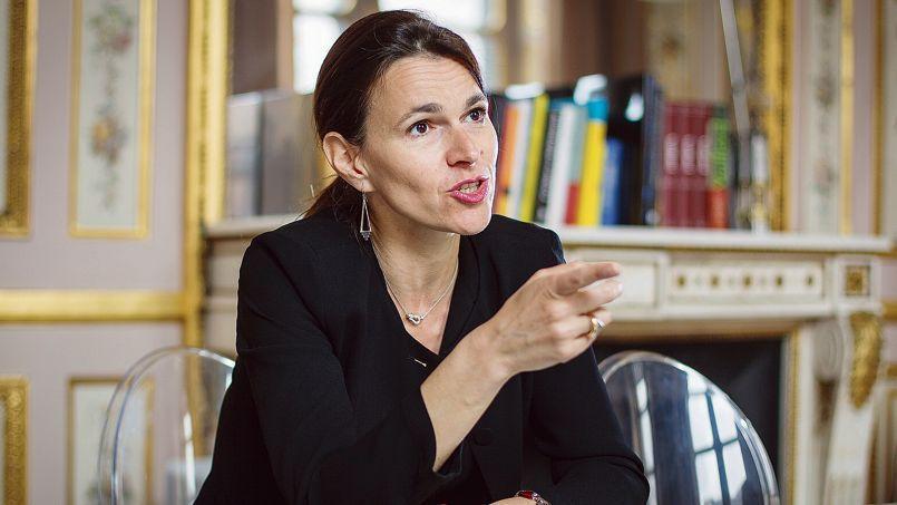 La ministre de la Culture et de la Communication, Aurélie Filippetti, dans son bureau à Paris, en avril dernier.