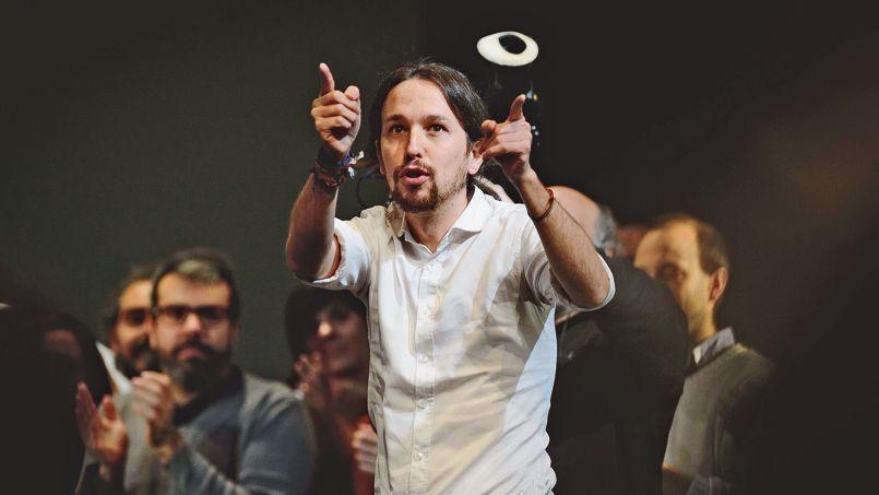Pablo Iglesias, 36 ans, a été confirmé à la tête du mouvement Podemos lors d'un meeting, samedi à Madrid.