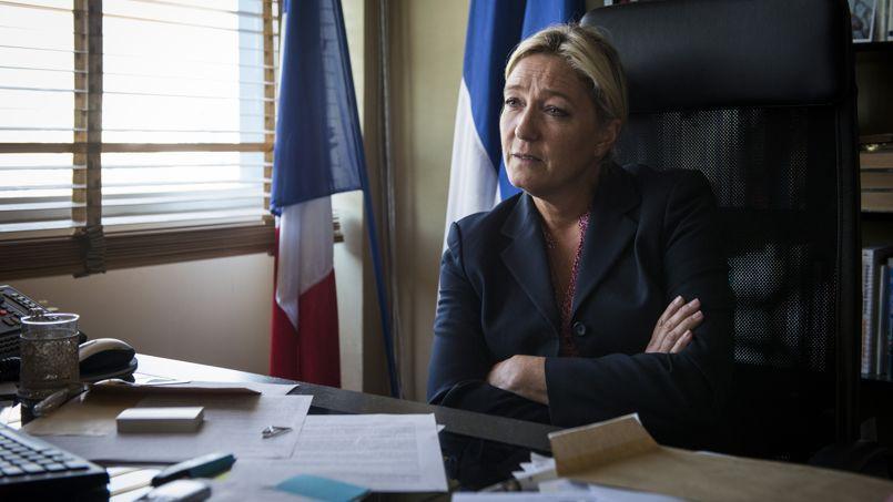 Marine Le Pen en septembre dernier dans son bureau, au siège du Front national, à Nanterre.
