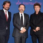 Jean-Philippe Rémy, Denis Olivennes et Laurent Van der Stockt. CRÉDIT PHOTO JULIEN DE FONTENAY