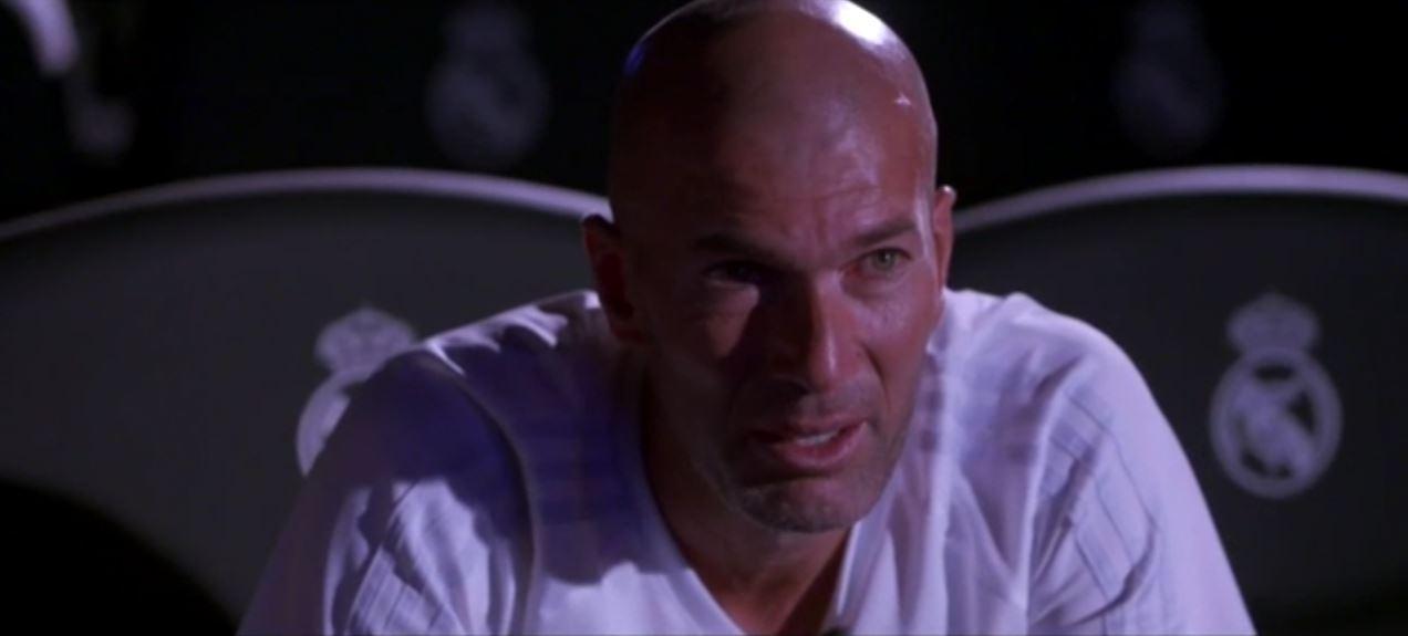 Les larmes de Zinédine Zidane devant les caméras de TF1