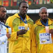 Usain Bolt, Asafa Powell et Tyson Gay