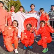 Avant de la retrouver au grand complet après la course, que les Japonais ont fini à la deuxième place