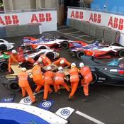 Un improbable embouteillage se crée lors du Grand Prix de Formule E de Rome
