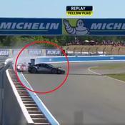 24 heures du Mans : Premier accident et premier abandon