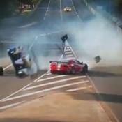 Violente sortie de piste pour Davidson