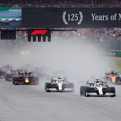 Grand Prix d'Allemagne : l'impressionnant départ sous la pluie (vidéo)