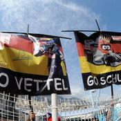 Supporters de Vettel et Schumacher