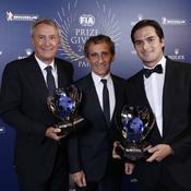 Alain Prost et Nelson Piquet Jr
