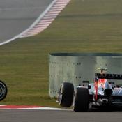Webber sans sa roue