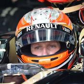 Romain Grosjean aux stands