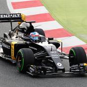 Jolyon Palmer effectue ses premiers tours de roue au volant de la Renault
