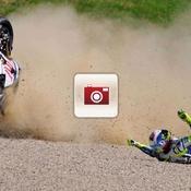 La chute de Rossi en images