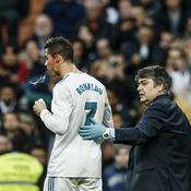 Cristiano Ronaldo ensanglanté