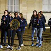 Arrivée équipe de France de Handball féminin, Elysée