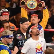 Arrivée de Manny Pacquiao sur le ring
