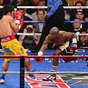 Floyd Mayweather Jr. face à Manny Pacquiao