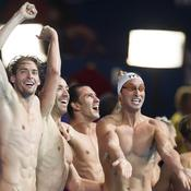 Victoire du relais 400 m 4 nages