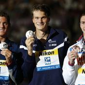 Yannick Agnel a obtenu l'or face à Conor Dwyer et Danila Izotov sur le 200m nage libre