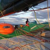 Couché de soleil au large du Golfe de Gascogne