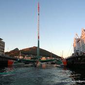 Groupama 3 à Cape Town pour cause de réparation