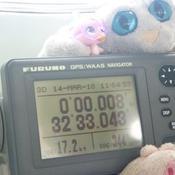 Zoom sur le GPS au passage de l'équateur