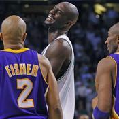 Derek Fisher, Kevin Garnett, Kobe Bryant