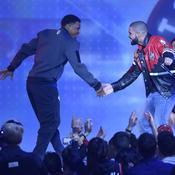 Kyle Lowry et le rappeur Drake