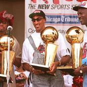 Michael Jordan, Scottie Pippen et Dennis Rodman