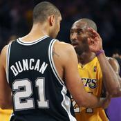 Tim Duncan et Kobe Bryant