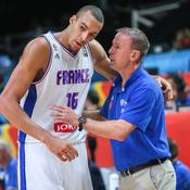 Rudy Gobert et Vincent Collet