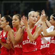 Antonija Mišura, la plus belle athlète des Jeux olympiques de Londres, et ses coéquipières.