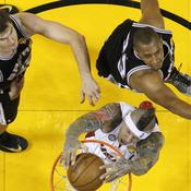 Chris Andersen face à Boris Diaw et Tiago Splitter