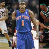 Deron Williams (New Jersey), Amare Stoudemire (New York) et Paul Pierce (Boston)