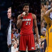 Jimmy Butler, Hassan Whiteside et Paul George
