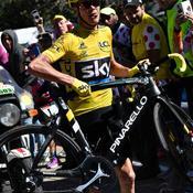 Le vélo de Froome est cassé