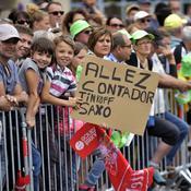 Les fans d'Alberto Contador