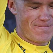 L'émotion de Chris Froome