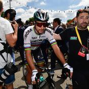 Sagan exclu du Tour de France pour son coup de coude sur Cavendish