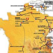 Le parcours du Tour de France 2012