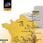 Le parcours du Tour de France 2017 en vidéo