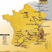 Tour de France : la carte de l'édition 2017